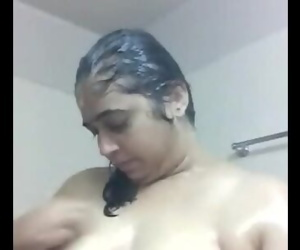 Sri Lankan Tamil aunty Bathing