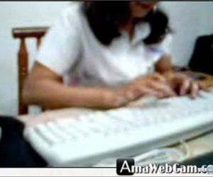 Indian woman in office cam -..
