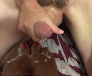 Her first Foot Job - Covered..